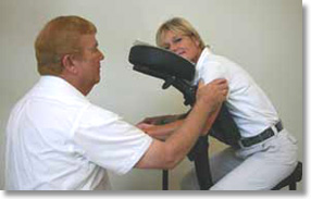 Chair massage in Cincinnati